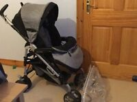 Mamas and papas pramette and travel system also chicco highchair