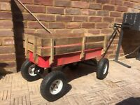 Pull along wagon perfect for camping and festivals. Cart, trolley.