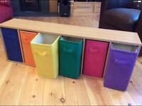 Fun and colourful storage unit