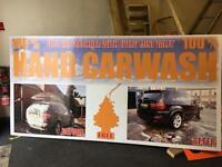 Hand car wash valeting sign