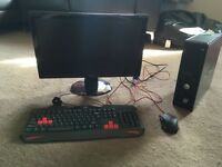 BENQ monitor, DELL tower, red dragon keyboard and mouse!!