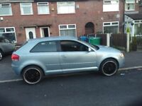 Audi A3 2004 . Blue 99800 miles will rises as in daily use. MOT April 2019. 19 inch alloys