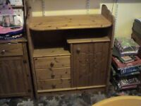 chunky pine Children's changing/storage unit