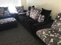 SCS Full Sofa set,3+2+1 Swivel chair Stool,extra cushions