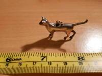 925 sterling silver cat pendant