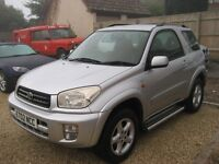 Toyota RAV4 2.0 NRG 3 door in silver. 2002 with only 2 owners from new.