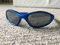 Blue mirrored wrap around sunglasses - 1-2yr - £1
