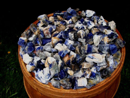 Sodalite Rough - Very High Quality - 3000 Carats + A FREE Faceted Gemstone