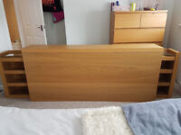 Ikea Malm King Headboard unit with sliding storage units