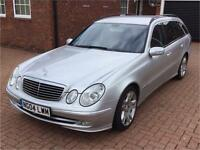 Mercedes E-class 7seater 04reg low mileage, retired owner full service history beautiful condition