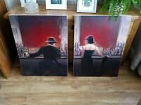 Pair canvas prints