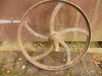 old iron wheel