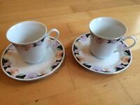 Sweet pea tea cups