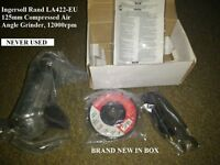 "BRAND NEW INGERSOLL RAND 5"" AIR ANGLE GRINDER, NEW IN BOX, WILL SHIP AT COST IF REQUIRED"