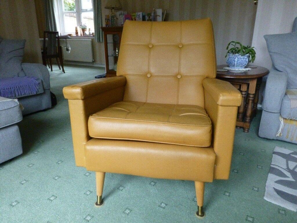70s Vinyl armchairs