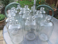 1 Gallon Glass Demijohns use for wine making