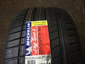 1 NEW SUMMER 255 35 19 MICHELIN PILOT SPORT 3 AO - SEULEMENT 1 DISPONIBLE