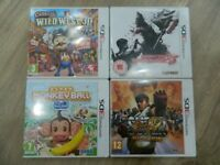 4 Nintendo 3DS Games including Street Fighter and Resident Evil