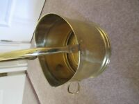 Made in England Traditional Round Brass Fire Side Helmet Coal Scuttle / Coal Hod.