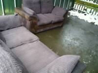 Brown sofas 3&2seater