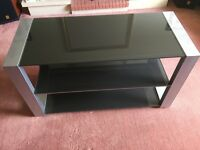 High quality metal and glass TV / AV equipment stand