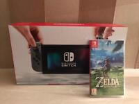 Nintendo Switch 32gb Grey with Zelda
