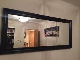Black frames full length mirror