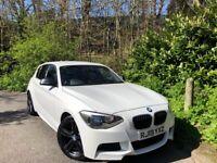 2013 Bmw 118d M sport 5 door alpine white *Sat nav heated leather 18's* £30 pound a year road tax!