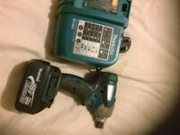 Makita used lxt impact driver comes with battery and charger