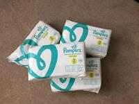 3 and a half pack of Premium Pampers nappies size 2