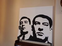 krays twins black and white canvas picture REDUCED PRICE