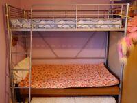 High Sleeper Bed with Mattress - optional desk + wardrobe