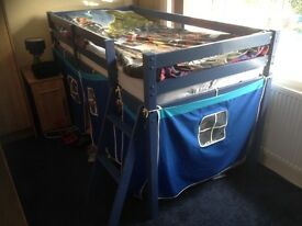 Mid sleeper bunk bed blue