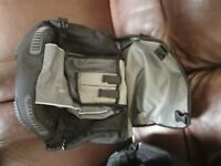 Large panniers, ideal for commuting, fit either side and clip onto any rear rack. Good condition