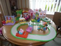 Collection of Peppa Pig items, and numerous accessories