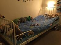 IKEA Children extendable bed frame with mattress