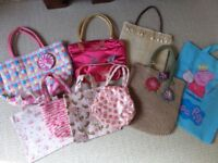9 girls handbags/ bags - Cath Kidston, Mango - all in exceptionally clean fabulous condition