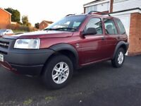 Land Rover Freelander (4X4), 2003, Red, 2.0 Diesel, Low Mileage, Family Car, 6 Months Mot.