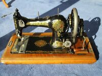 Jones Family Cylindrical Shuttle Sewing Machine Antique approx 1925