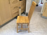 4Oak Furniture chairs, perfect condition