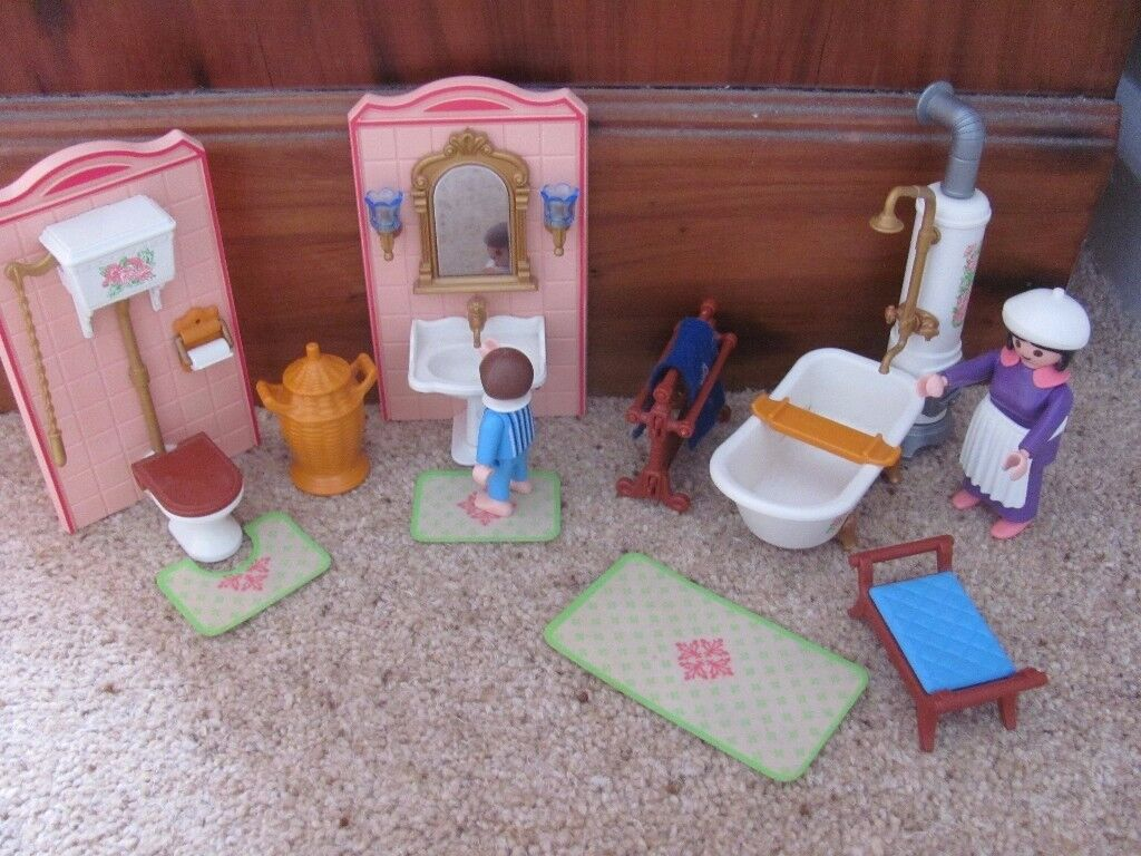 Playmobil Victorian bathroom set