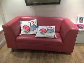 2 seater and 3 seater Red Leather sofas bought from Habitat