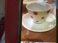 1950's tea cups, plates and saucers