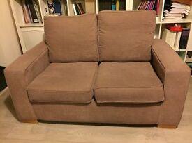 Mocha Fabric Two Seater Sofa