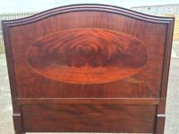 Pair of original staples beds, with sprung bases, in good solid condition.