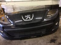Peugeot 207 front bumper spares, repairs, salvage, project