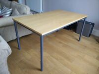 Sturdy office desk/table in good condition, height adjustable