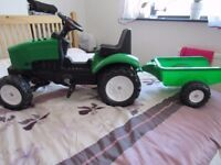 FALK Ride-On Tractor & Trailer Set