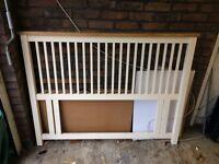 Wooden Double Headboard - Excellent condition £40 (£130 online!!)