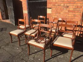Modern Rosewood Dining Chairs (Some need repairs)